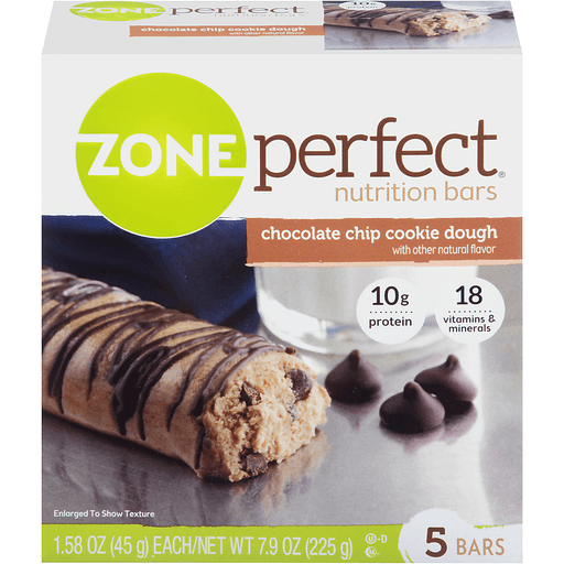 ZonePerfect Nutrition Bar Chocolate Chip Cookie Dough 5-1.76 oz Bars