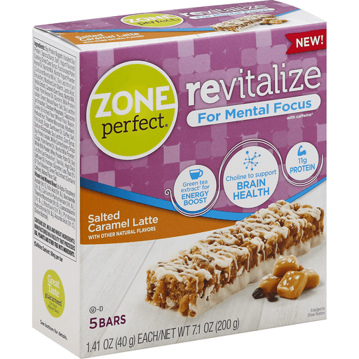 Zone Perfect Revitalize Nutrition Bars, Salted Caramel
