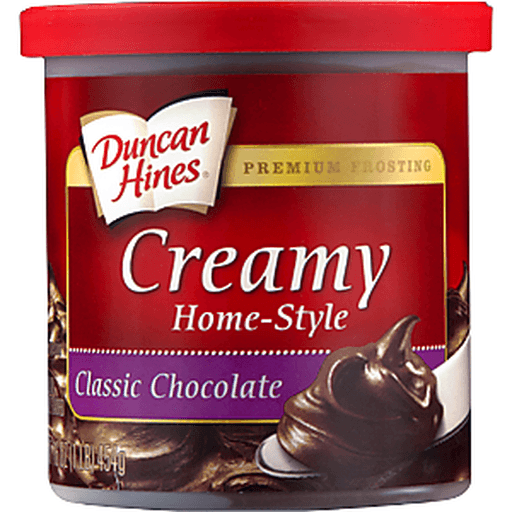 Duncan Hines Frosting, Home-Style, Classic Chocolate, Creamy