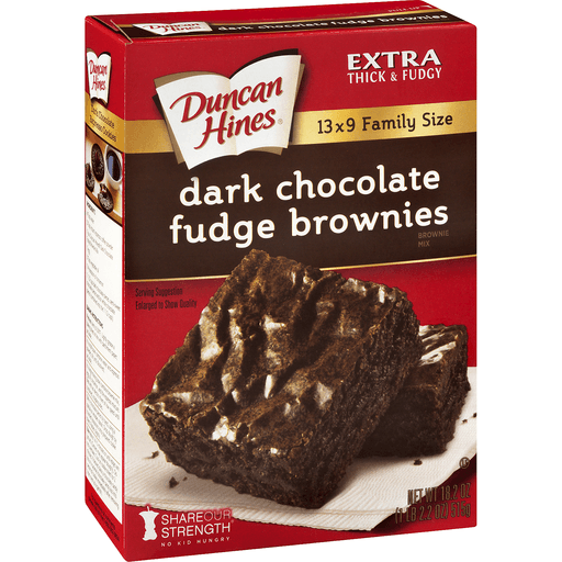 Duncan Hines Brownie Mix, Dark Chocolate Fudge Brownies, Family Size
