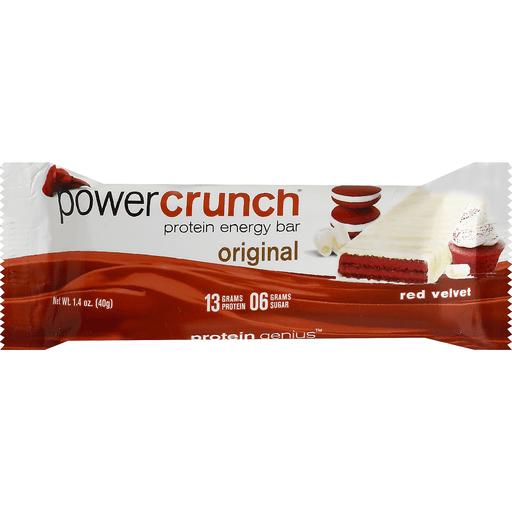 Power Crunch Energy Bar, Protein, Original, Red Velvet