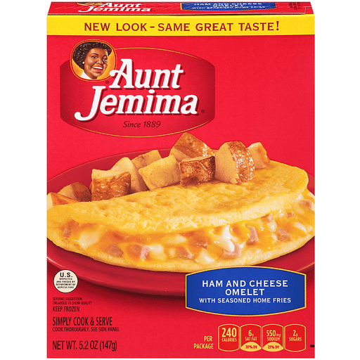 Aunt Jemima Great Starts Meal, Ham & Cheese Omelet with Seasoned Home Fries