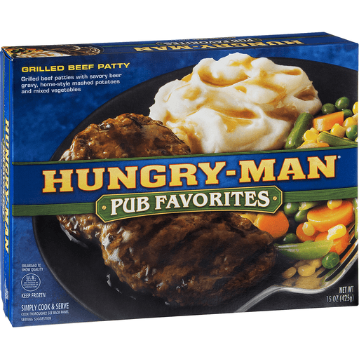 Hungry Man Grilled Beef Patty