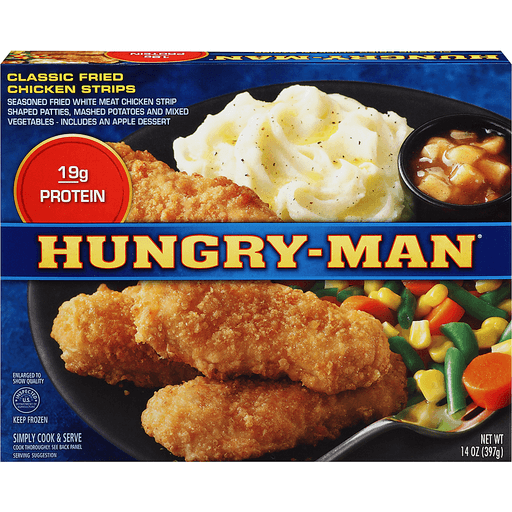 Hungry Man Chicken Strips, Classic Fried