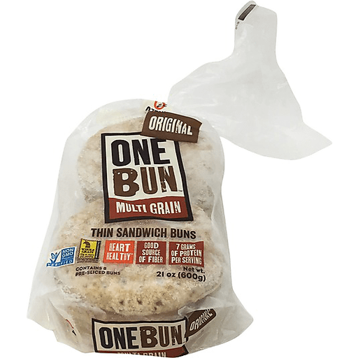 Ozery Bakery One Bun Sandwich Buns, Thin, Original, Multi Grain, Pre-Sliced