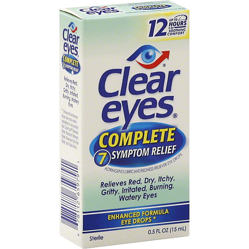 Clear Eyes Eye Drops, Complete 7 Symptom Relief | Eye & Contacts Care |  Martin's Super Markets