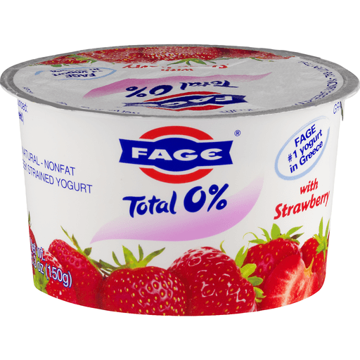 Fage Total Yogurt, Greek, Nonfat, Strained, with Strawberry