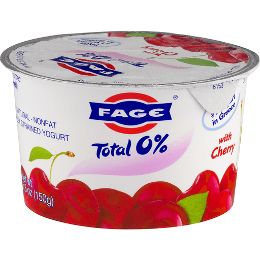 Fage Total Yogurt, Greek, Nonfat, Strained, with Cherry