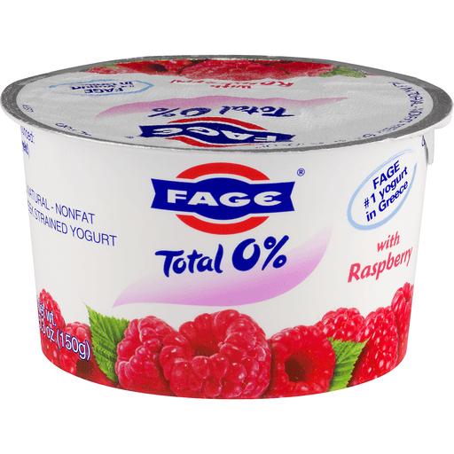 Fage Total Yogurt, Greek, Nonfat, Strained, with Raspberry