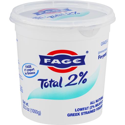 Fage Total Yogurt, Greek, Lowfat, Strained