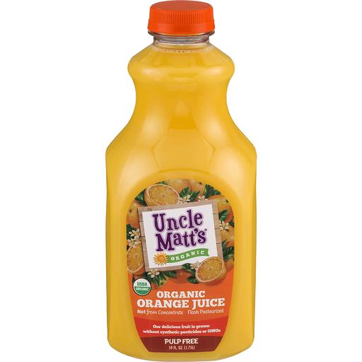 Uncle Matts Organic Juice, Organic, Orange, Pulp Free