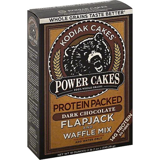 Kodiak Cakes Flapjack and Waffle Mix, Power Cakes, Protein Packed, Dark Chocolate