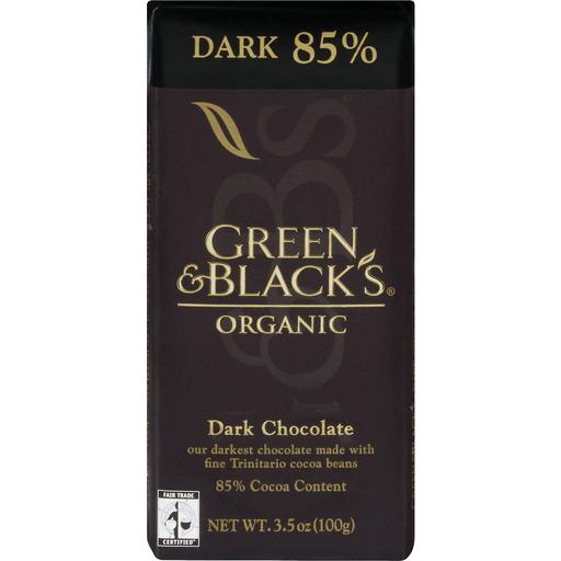 Green & Blacks Organic Cacao Bar, 85%, Dark 85%