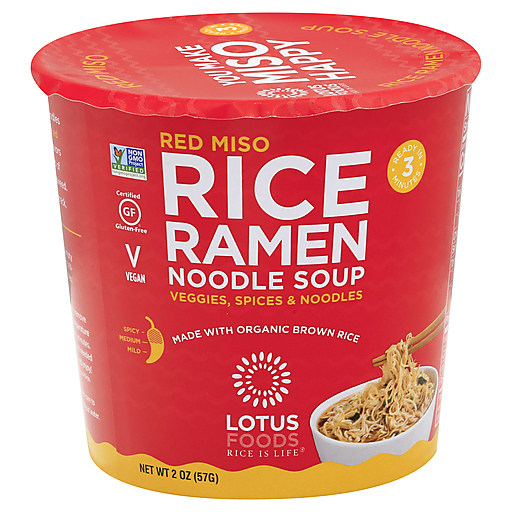 Lotus Foods Red Miso Rice Noodle Soup