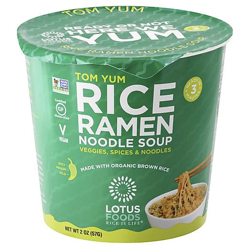 Lotus Foods Noodle Brwm Rice Cup Tom