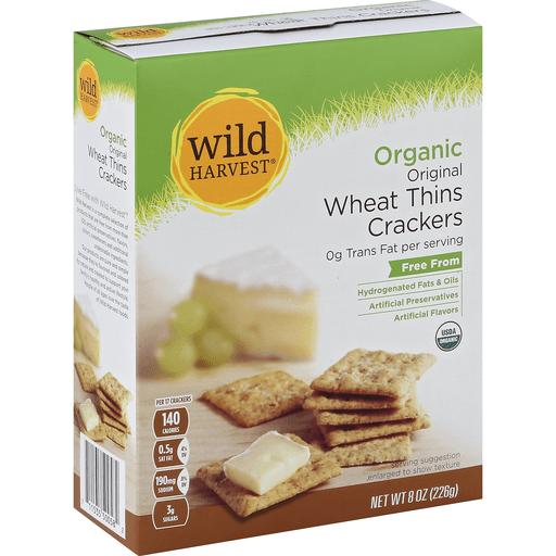 Wild Harvest Crackers, Wheat Thins, Organic, Original