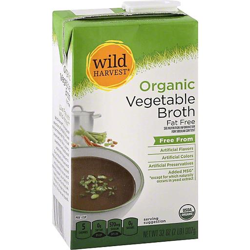 Wild Harvest Organic Broth, Fat Free, Vegetable
