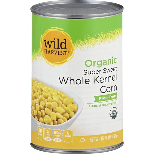Wild Harvest Corn, Organic, Super Sweet Whole Kernel
