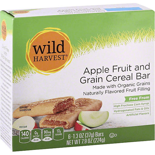 Wild Harvest Cereal Bar, Fruit & Grain, Apple
