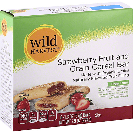 Wild Harvest Cereal Bar, Fruit & Grain, Strawberry