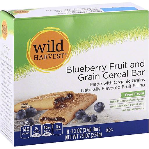 Wild Harvest Cereal Bar, Blueberry Fruit & Grain