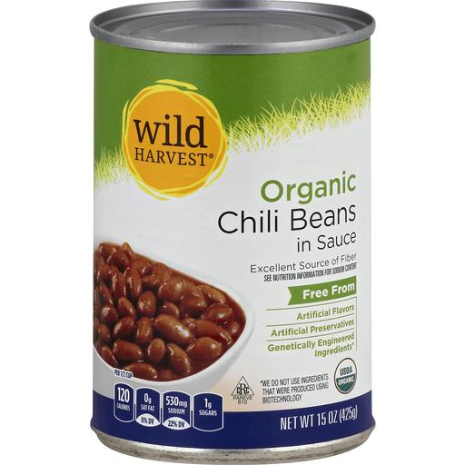 Wild Harvest Chili Beans, Organic, in Sauce