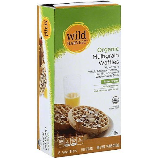 Wild Harvest Organic Waffles, Multigrain