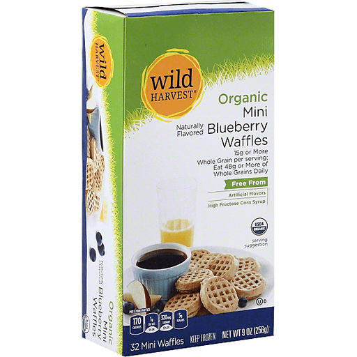 Wild Harvest Organic Waffles, Mini, Blueberry