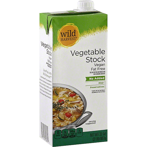 Wild Harvest Vegetable Stock, Fat Free