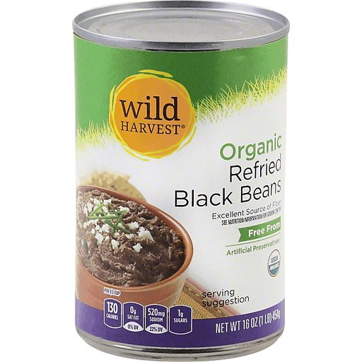 Wild Harvest Black Beans, Organic, Refried