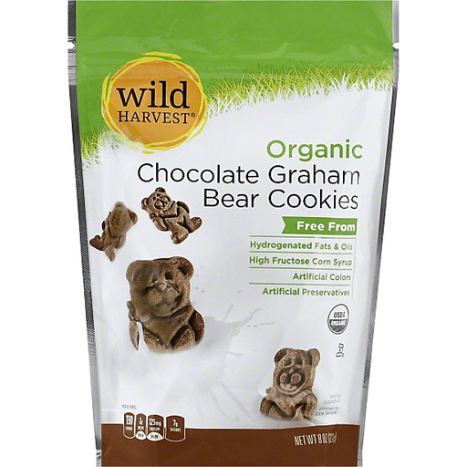 Wild Harvest Organic Cookies, Bear, Chocolate Graham