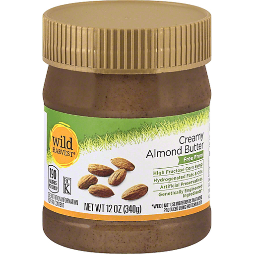 Wild Harvest Almond Butter, Creamy
