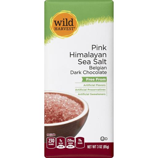 Wild Harvest Dark Chocolate, Belgian, Pink Himalayan Sea Salt