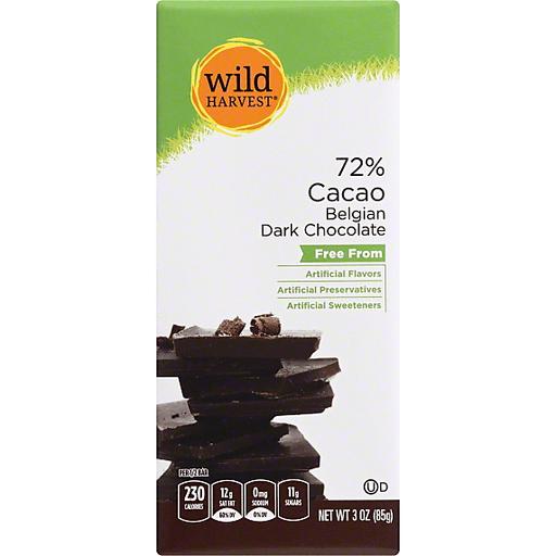 Wild Harvest Dark Chocolate, Belgian, 72% Cacao