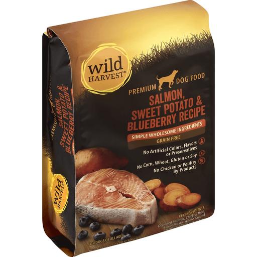 Wild Harvest Dog Food, Premium, Grain Free, Salmon, Sweet Potato & Blueberry Recipe