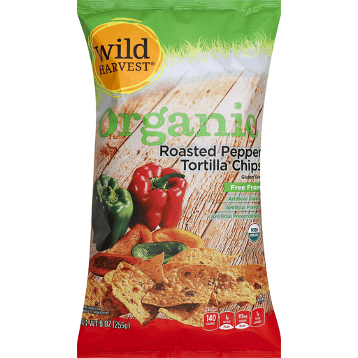 Wild Harvest Tortilla Chips, Organic, Roasted Pepper