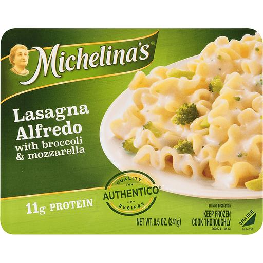 Michelinas Lasagna, Alfredo, with Broccoli & Mozzarella