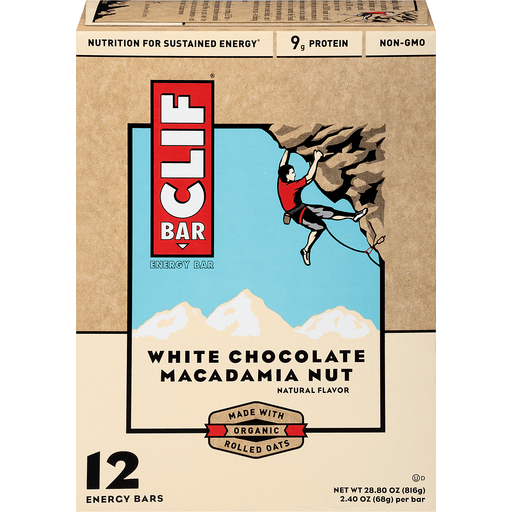 Clif Energy Bars, White Chocolate Macadamia Nut