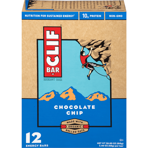 Clif Energy Bars, Chocolate Chip