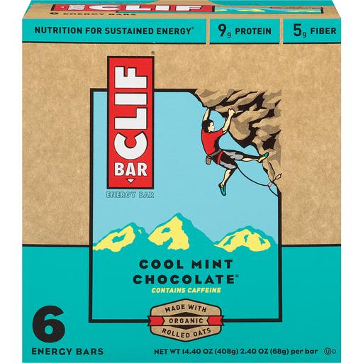 Clif Bar Energy Bar Cool Mint Chocolate - 6 CT