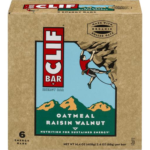 Clif Energy Bars, Oatmeal Raisin Walnut