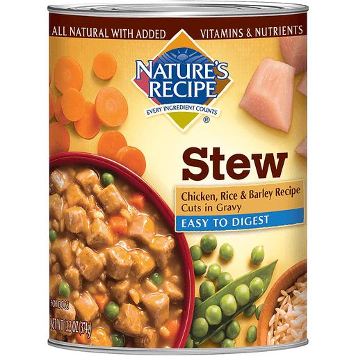 Nature's Recipe Stew Dog Food Chicken, Rice & Barley Recipe