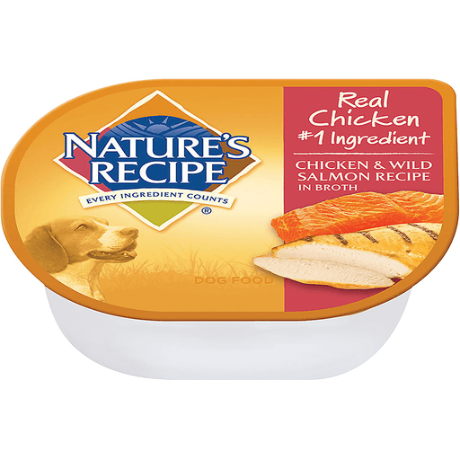 Nature's Recipe Dog Food Chicken & Wild Salmon Recipe In Broth