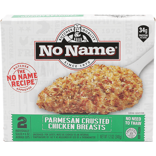 No Name Chicken Breasts, Parmesan Crusted
