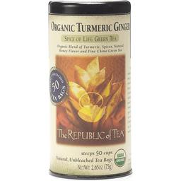 Republic of Tea Green Tea, Spice of Life, Organic, Turmeric Ginger, Bags