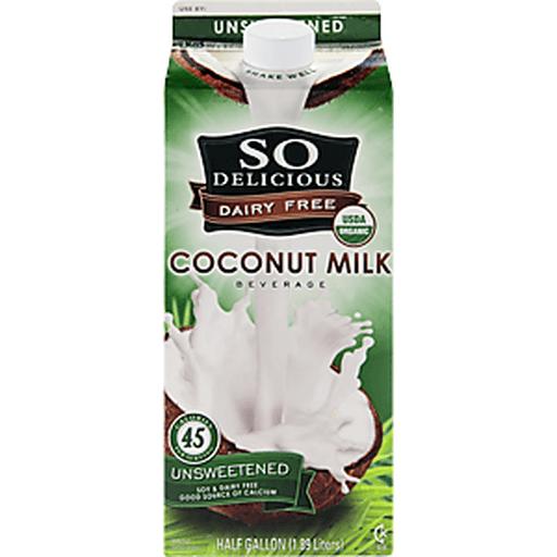 So Delicious Coconut Milk, Unsweetened