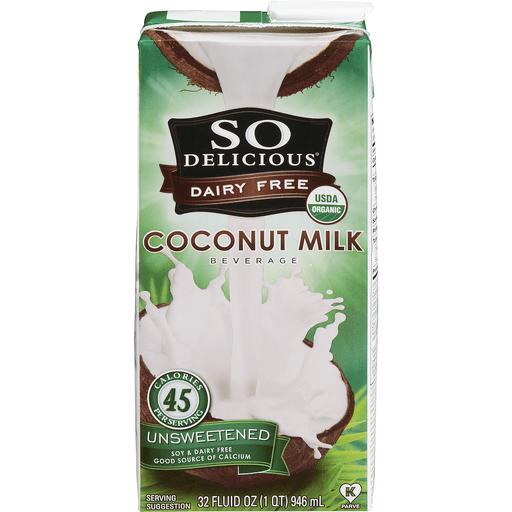 Organic Coconut Milk Beverage; Unsweetened