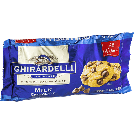 Ghirardelli Baking Chips, Premium, Milk Chocolate
