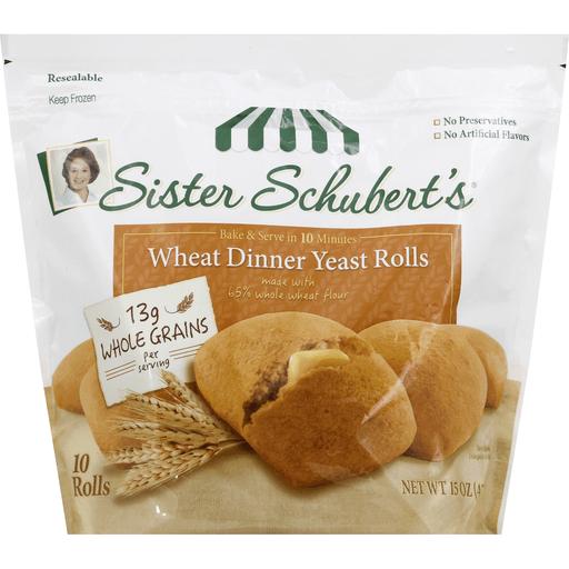 Sister Schubert S Wheat Dinner Yeast Rolls 10 Ct Buns Rolls
