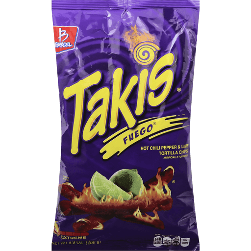 Takis Tortilla Chips, Hot Chili Pepper & Lime, Extreme | Corn | Martin's  Super Markets